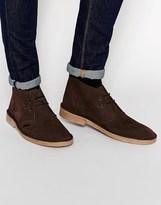 Ben Sherman Chukka Boot In Suede - Brown