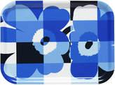 Marimekko Ruutu-Unikko Tray - Blue/White