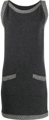 Chanel Pre Owned Cashmere 2010s Zig-Zag Details Knitted Dress