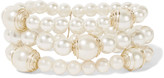 Kenneth Jay Lane Faux pearl and gold-tone bracelet
