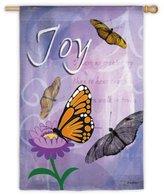 Evergreen Joy Butterfly Summer Decorative House Flag