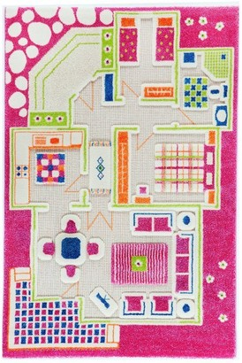 Danawares Ivi 3d Playhouse Hypoallergenic Play Carpet