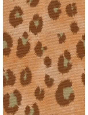 East Urban Home Patterned Orange/Brown Area Rug East Urban Home Rug Size: Rectangle 5' x 7'