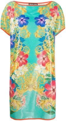 Versace floral sequin dress