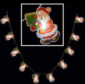 Kingfisher Battery Operated LED Santa or Snowman LED Lights Pack of 10