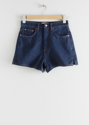 And other stories High Waist Side Slit Jeans Shorts