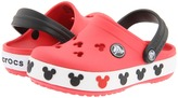 Crocs Crocband Mickey II (Toddler/Little Kid) (Red/Black) - Footwear