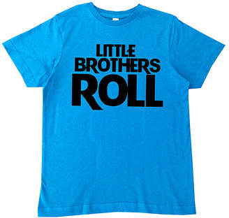 Micro Me Boys' Tee Shirts Cobalt - Cobalt Blue 'Little Brothers Roll' Tee - Toddler & Boys