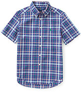Ralph Lauren Big Boys 8-20 Plaid Short-Sleeve Poplin Shirt