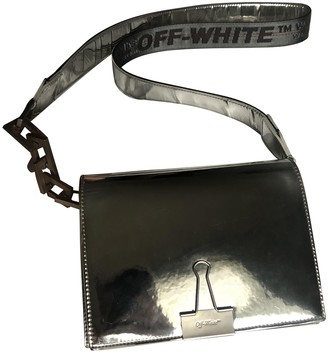 Off-White Binder Silver Leather Handbags