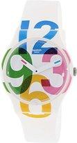 Swatch Women's Quartz White Casual Watch (Model: SUOW117)