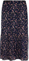 Gerard Darel Muslin Skirt Accented With Lurex And Silk