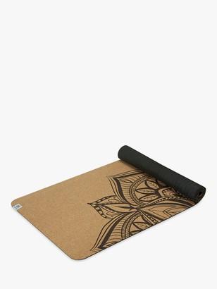 Gaiam Performance Mandala 5mm Yoga Mat, Printed Cork