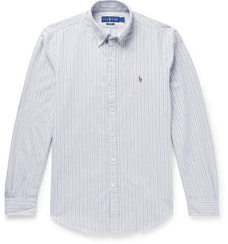 Polo Ralph Lauren Slim-Fit Button-Down Collar Striped Cotton Oxford Shirt