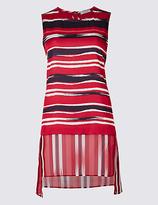 Per Una Striped Round Neck Sleeveless Tunic