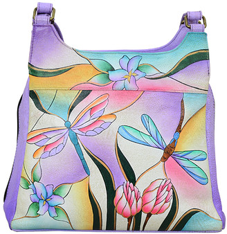 Anuschka Anna By Anna by Women's Hobos Dragonfly - Purple Dragonfly Leather Hobo