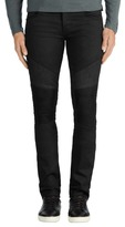 J Brand Bearden Moto in Black Raw