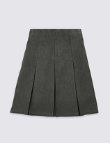 Marks and Spencer Girls' Slim Fit Skirt with Permanent Pleats