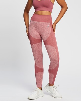 Doyoueven - Women's Red Full Tights - Impact Seamless Leggings - Size One Size, XS at The Iconic