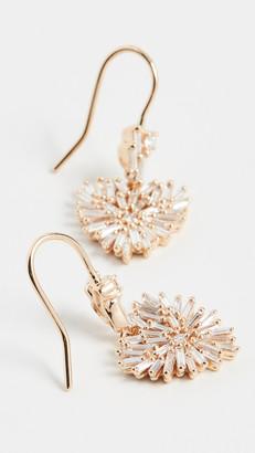 Suzanne Kalan 18k Yellow Gold Heart-Drop Dangling Earrings