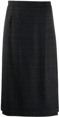 Stephan Schneider High-Waist Check Knee-Length Skirt