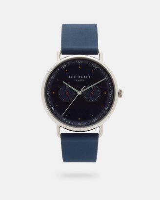 Ted Baker GEODBL Leather strap watch
