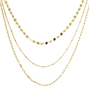"Essentials Multi-Layer Statement Necklace, 16"" + 2"" extender in Fine Silver or Gold Plate"