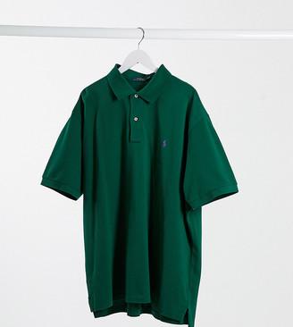 Polo Ralph Lauren Big & Tall player logo pique polo custom regular fit in forest green