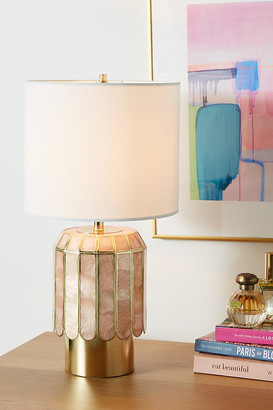 Anthropologie Madelyn Faceted Lamp Base By in Pink Size S
