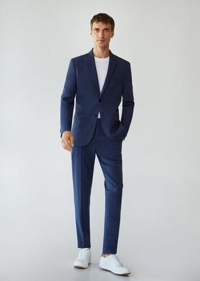 MANGO MAN - Super slim-fit suit blazer ink blue - 36 - Men