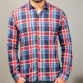 Blade + Blue Navy, Bright Blue & Red Plaid Shirt - Glenn