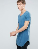 Benetton Longline T-Shirt With Curved Hem