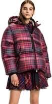 Tommy Hilfiger Short Tartan Down Coat