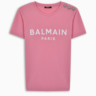 Balmain Blue and white logoed t-shirt