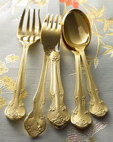 Horchow 45-Piece Gold-Plated Baroque Flatware Service