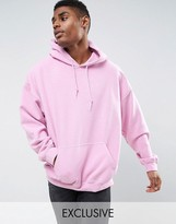 Reclaimed Vintage Inspired Oversized Hoodie In Pink Overdye
