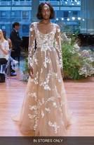 Monique Lhuillier Women's Alexia Illusion Tulle A-Line Gown