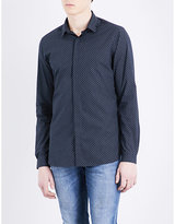 The Kooples Micro-pattern Fitted Cotton Shirt
