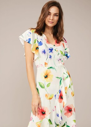 Phase Eight Anthea Floral Frill Dress
