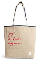 ED Ellen Degeneres Dakin Canvas & Leather Tote - Ivory