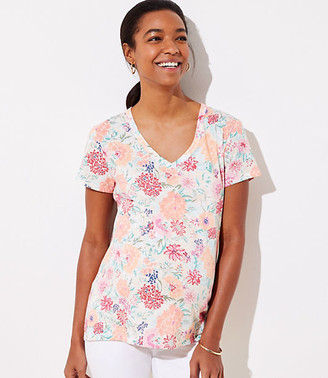 LOFT Maternity Floral Everyday V-Neck Tee