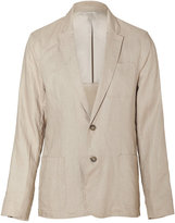 Michael Kors Khaki Two Button Linen Blazer