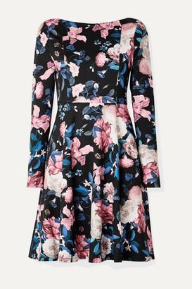Erdem Martine Floral-print Stretch-ponte Dress - Pink