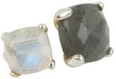 Nunu Labdorite Moonstone Stackable Ring (Labdorite & Moonstone/Silver) - Jewelry