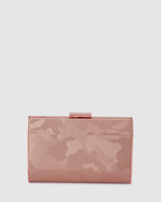 Olga Berg Bae Metallic Camo Clutch