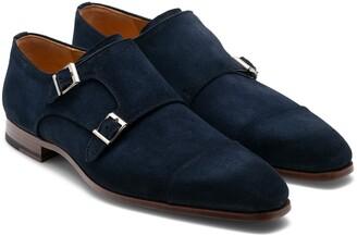 Magnanni Garrett Cap Toe Monk Strap Shoe