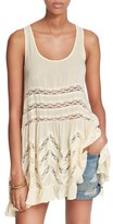 Free People Women's Swingy Lace Inset Tunic
