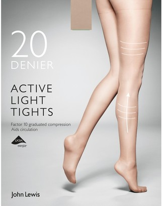 John Lewis & Partners 20 Denier Firm Support Active Light Sheer Tights