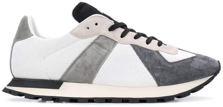 Maison Margiela colour block lace-up sneakers