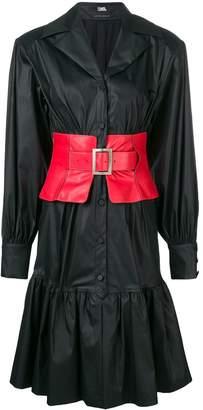 Karl Lagerfeld Paris flared shirt dress